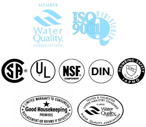 vandens filtrai sertifikatai